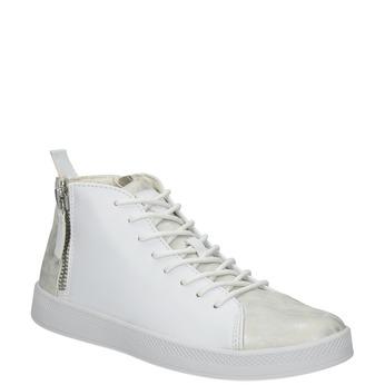 Bílé kotníčkové tenisky atletico, bílá, 501-1172 - 13