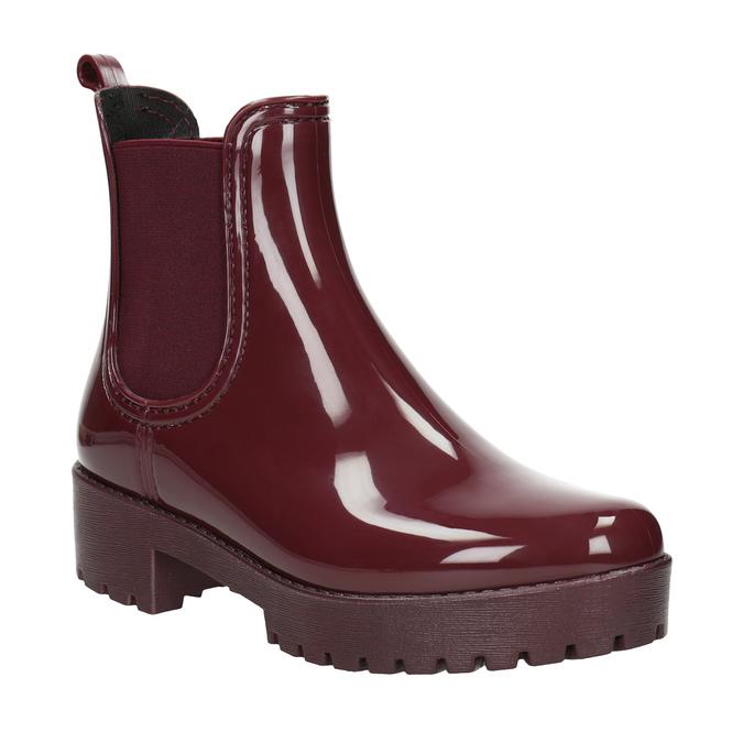 Kotníčkové dámské holínky bata, červená, 592-5400 - 13