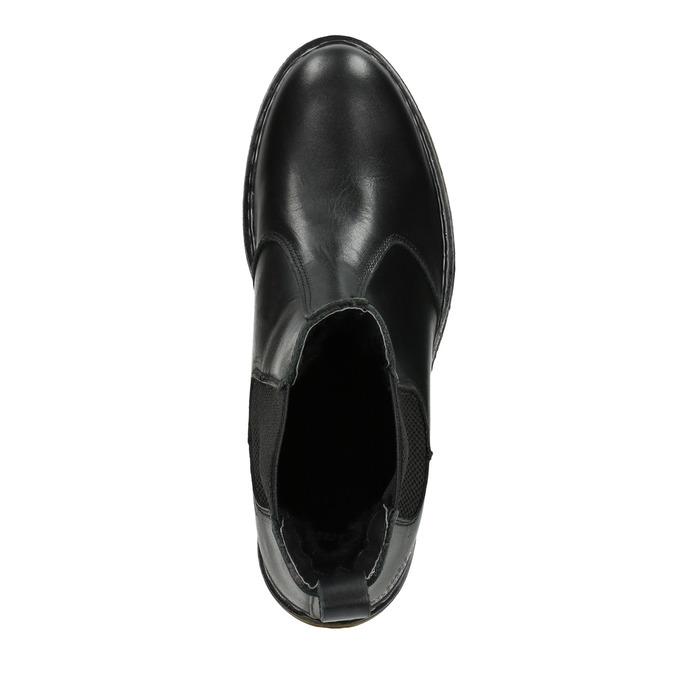 Kožená dámská Chelsea obuv bata, černá, 594-6680 - 15