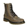 Kožená dámská kotníčková obuv bata, hnědá, 596-7681 - 13