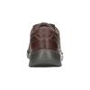 Kožené polobotky s prošíváním clarks, hnědá, 826-4024 - 16