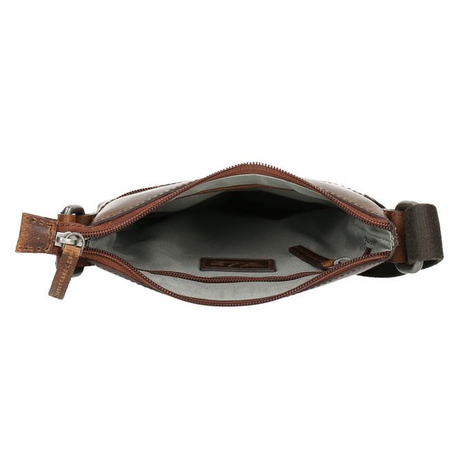 Pánská kožená Crossbody taška bata, hnědá, 964-4140 - 15