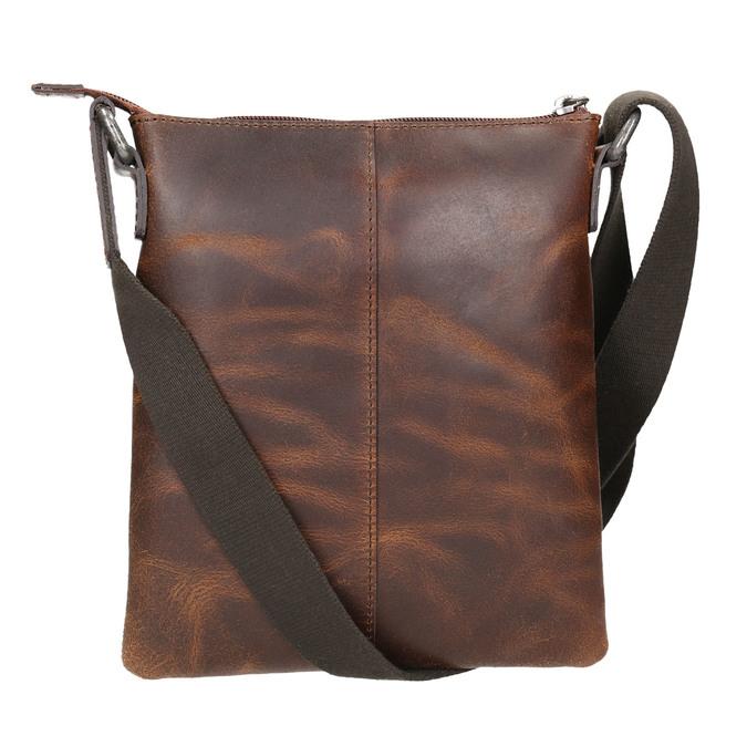 Pánská kožená Crossbody taška bata, hnědá, 964-4140 - 26