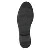 Kožená kotníčková obuv se strukturou bata, šedá, 826-2616 - 19