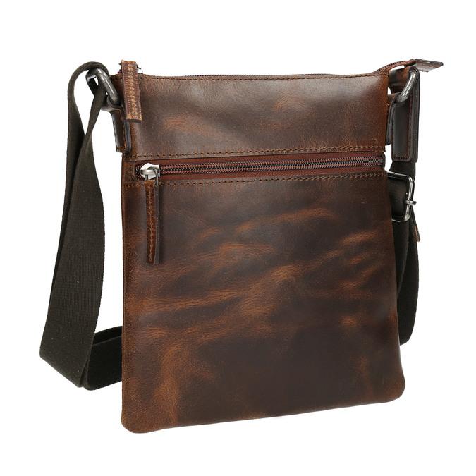 Pánská kožená Crossbody taška bata, hnědá, 964-4140 - 13