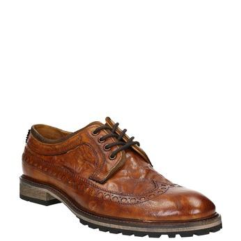 Pánské kožené polobotky bata, hnědá, 826-3916 - 13