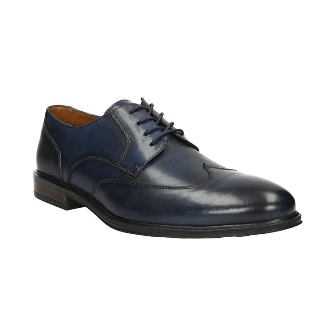 Modré kožené pánské polobotky bata, modrá, 826-9914 - 13