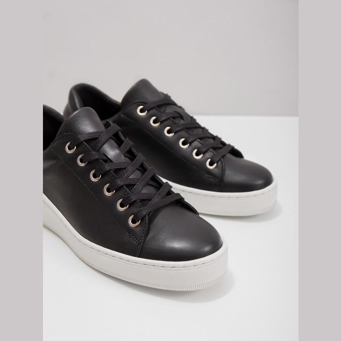 Kožené tenisky s výraznou podešví bata, černá, 526-6641 - 18