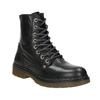 Kožená dámská kotníčková obuv bata, černá, 594-6681 - 13