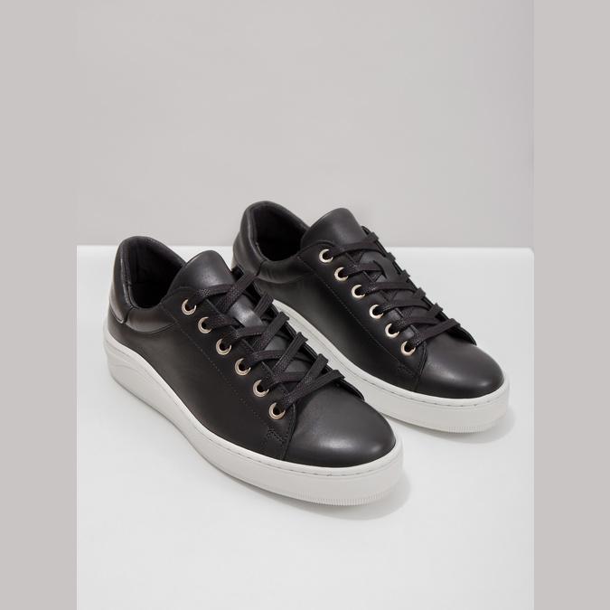 Kožené tenisky s výraznou podešví bata, černá, 526-6641 - 14