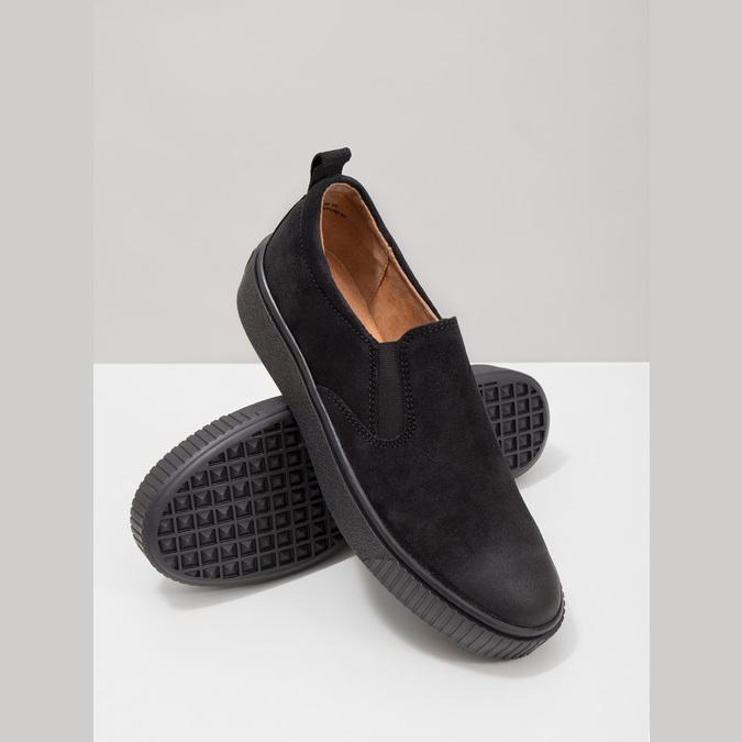 Kožená dámská Slip-on obuv bata, černá, 516-6613 - 18