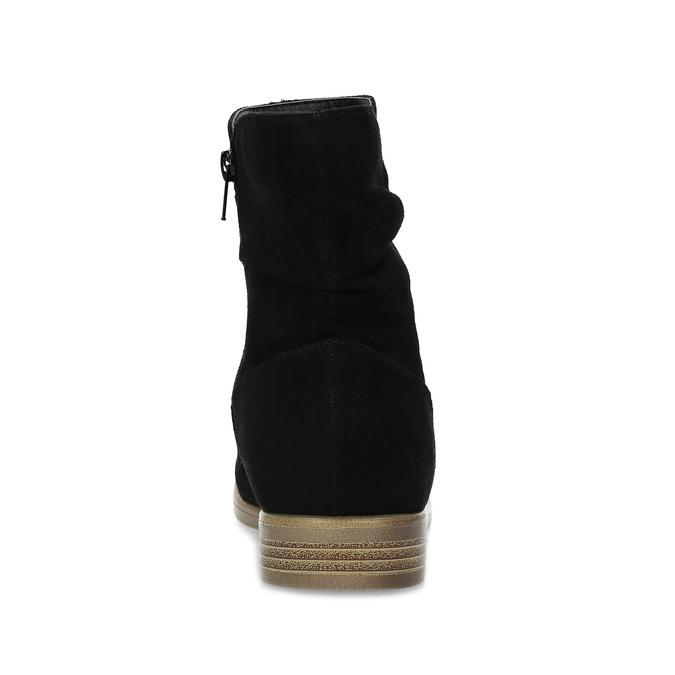 Dámské kotníčkové kozačky bata, černá, 599-6614 - 15