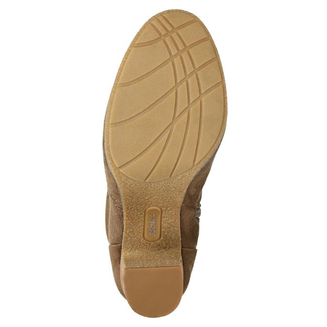 Hnědé kozačky na podpatku bata, hnědá, 799-3613 - 19