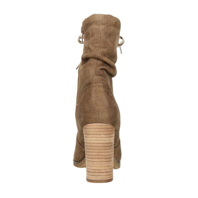 Hnědé kozačky na podpatku bata, hnědá, 799-3613 - 17