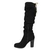 Černé dámské kozačky na podpatku bata, černá, 799-6614 - 26