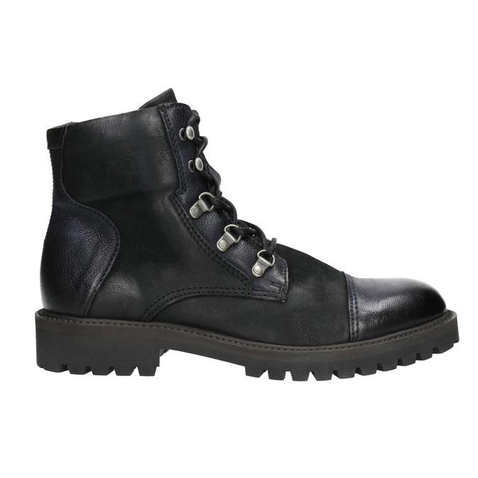 Pánská kotníčková obuv bata, černá, 896-6664 - 15