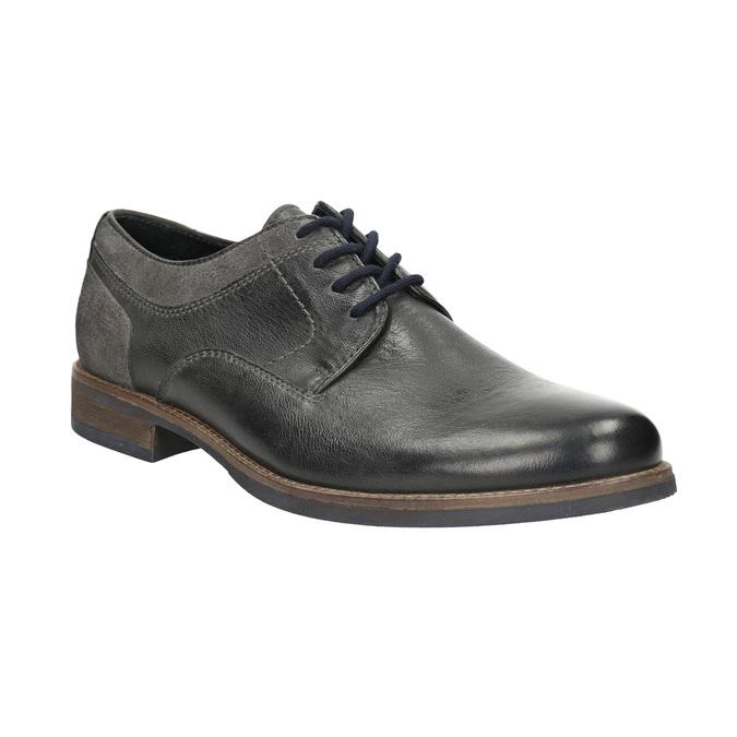 Pánské ležérní polobotky bata, šedá, 826-2610 - 13