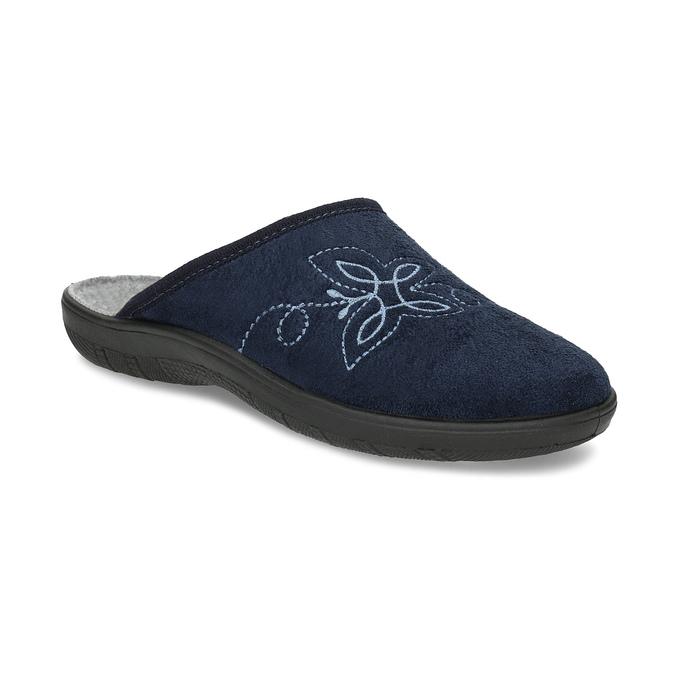 Dámská domácí obuv modrá bata, modrá, 579-9621 - 13