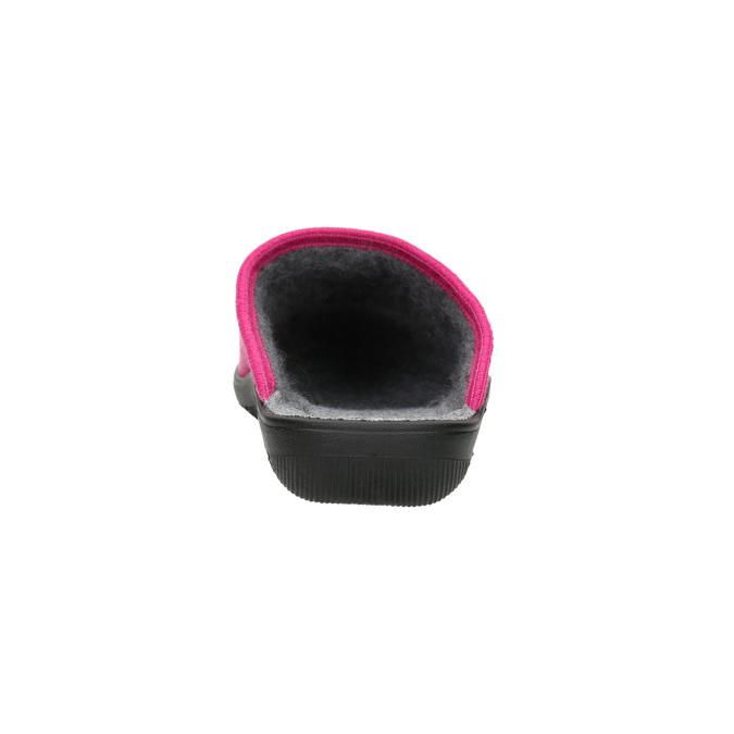 Růžové dámské pantofle bata, růžová, 579-5621 - 17