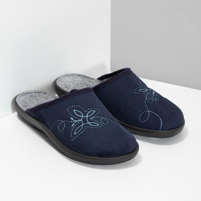 Dámská domácí obuv modrá bata, modrá, 579-9621 - 26