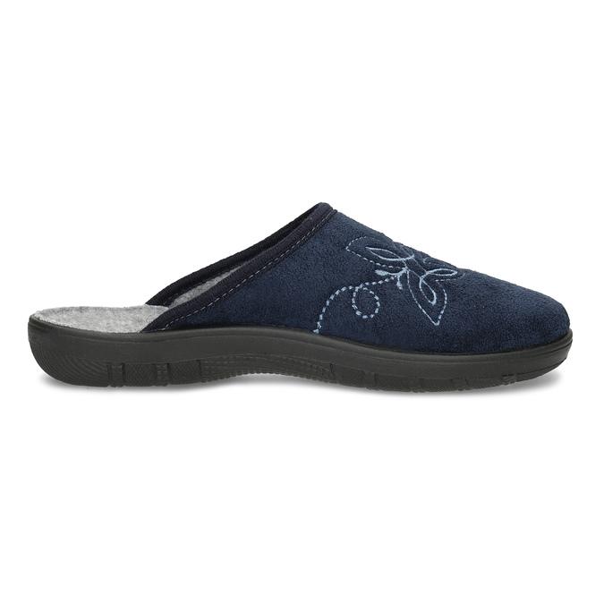 Dámská domácí obuv modrá bata, modrá, 579-9621 - 19