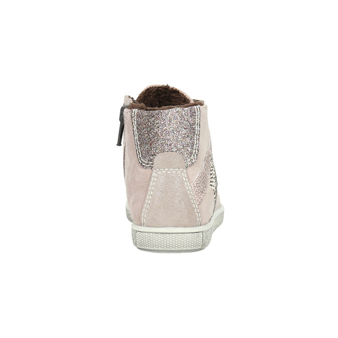 Dětské kožené kotníčkové tenisky mini-b, růžová, 223-5170 - 17