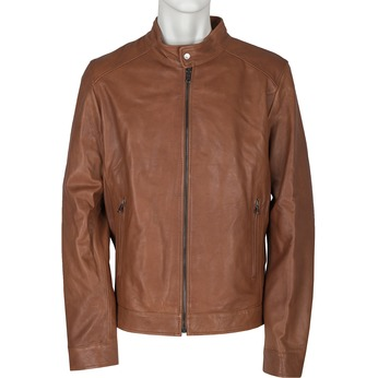 Pánská kožená bunda bata, hnědá, 974-0154 - 13