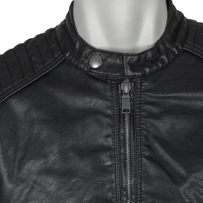 Pánská bunda s prošitím bata, černá, 971-6103 - 16