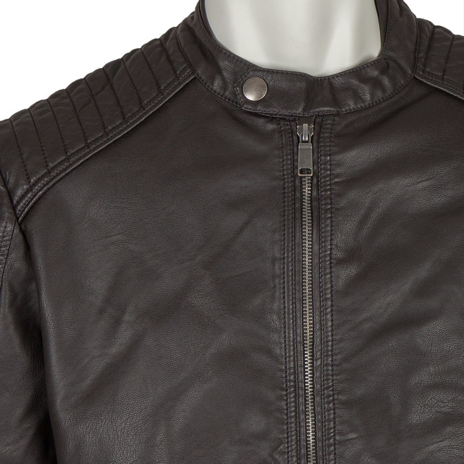 Koženková pánská bunda bata, hnědá, 971-4103 - 16