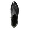 Kotníčková kožená obuv s kovovými cvoky bata, černá, 696-6652 - 15