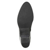 Kotníčková kožená obuv s kovovými cvoky bata, černá, 696-6652 - 17