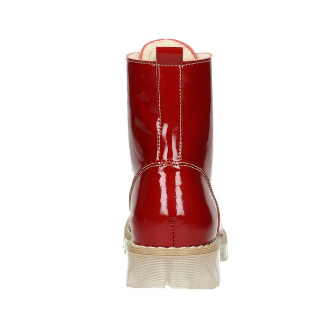 Dámská lakovaná obuv s masivní podešví weinbrenner, červená, 598-5604 - 16