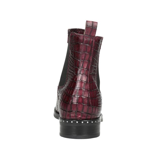 Kožená dámská Chelsea obuv bata, červená, 596-5678 - 16