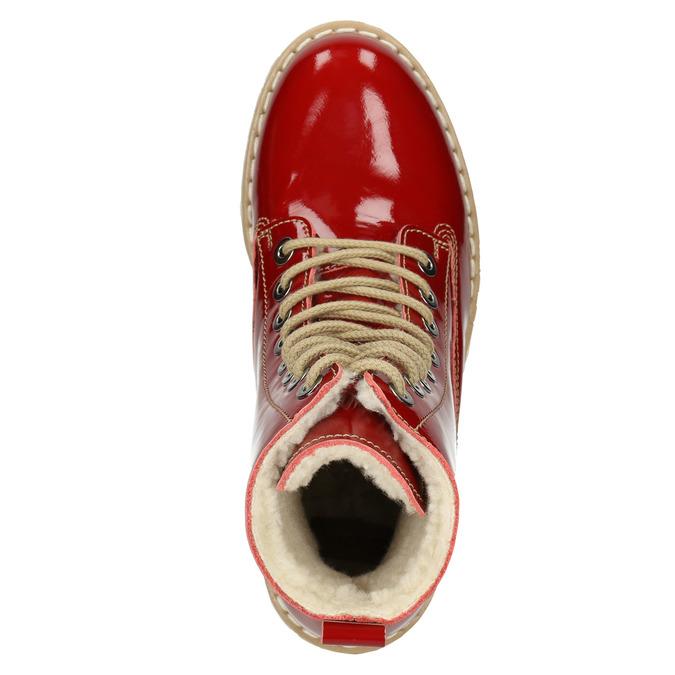 Dámská lakovaná obuv s masivní podešví weinbrenner, červená, 598-5604 - 15