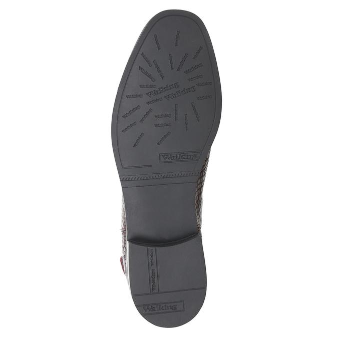 Kožená dámská Chelsea obuv bata, červená, 596-5678 - 17