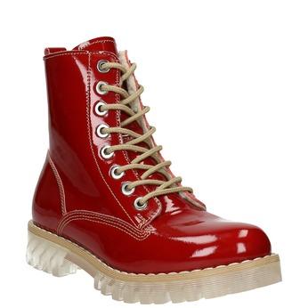 Dámská lakovaná obuv s masivní podešví weinbrenner, červená, 598-5604 - 13