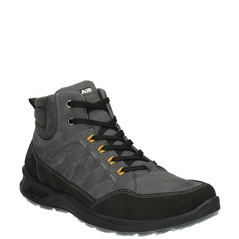 Pánská kožená Outdoor obuv weinbrenner, šedá, 846-2647 - 13