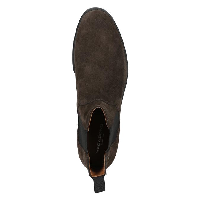 Pánská kožená Chelsea obuv vagabond, hnědá, 813-4019 - 15