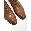 Kožené Oxford polobotky se zdobením bata, hnědá, 826-3690 - 14