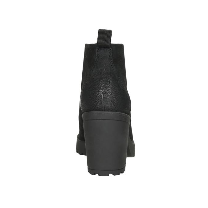 Kotníčková dámská obuv na podpatku vagabond, černá, 726-6016 - 16