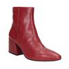 Červené kožené kozačky vagabond, červená, 716-5038 - 13