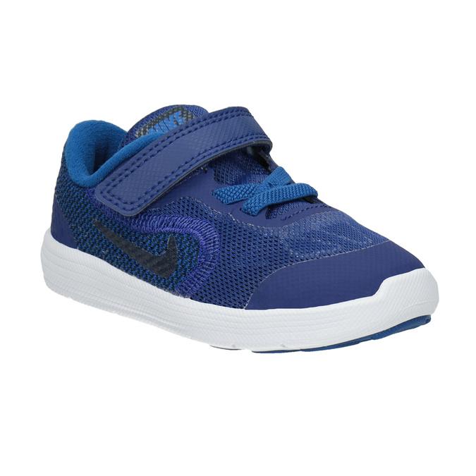 Modré dětské tenisky nike, modrá, 109-9132 - 13