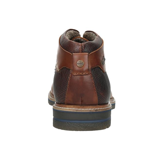 Kožená kotníčková obuv bugatti, hnědá, 824-6010 - 16
