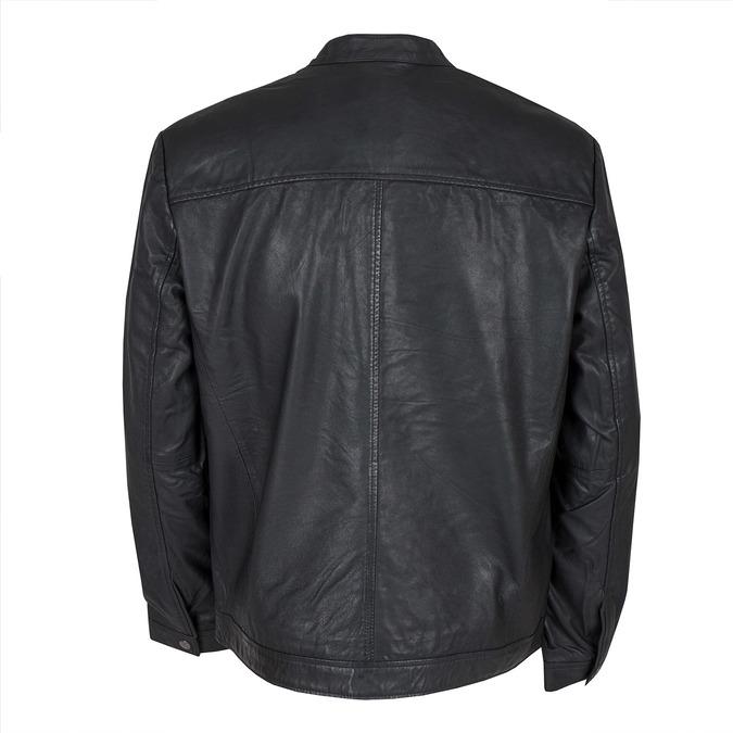 Kožená pánská bunda bata, černá, 974-6171 - 26