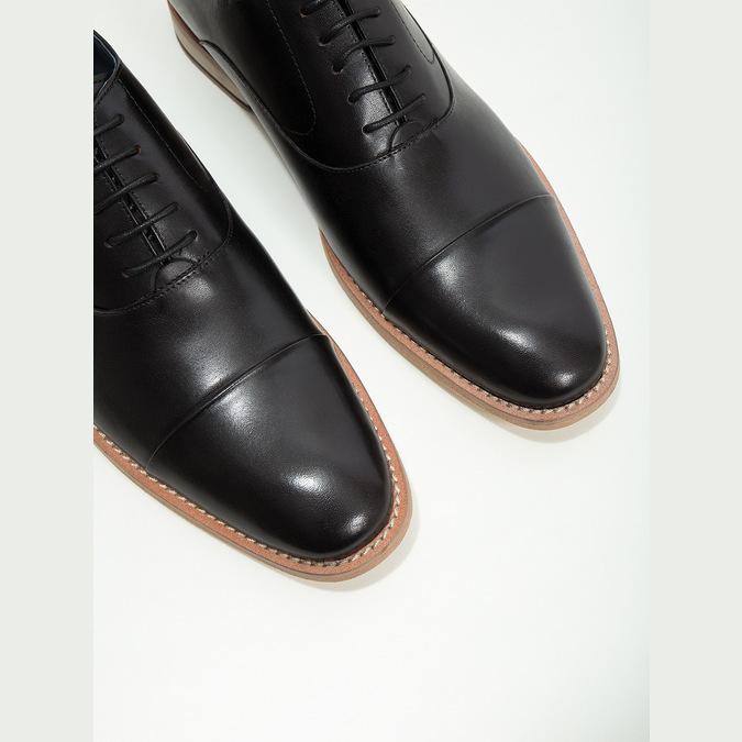 Celokožené Oxford polobotky bata, černá, 824-6414 - 14