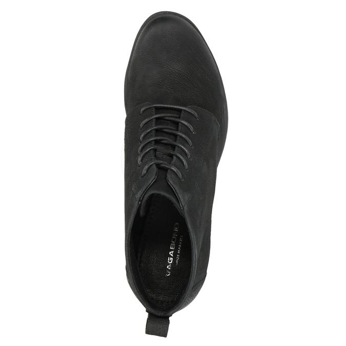 Kotníčková dámská obuv na podpatku vagabond, černá, 726-6016 - 15