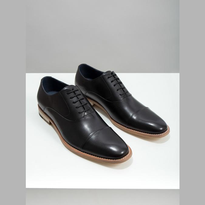 Celokožené Oxford polobotky bata, černá, 824-6414 - 18