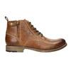 Hnědá kožená kotníčková obuv bata, hnědá, 896-3684 - 15