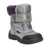 Dívčí zimní obuv s kožíškem bubblegummers, šedá, 193-2601 - 13