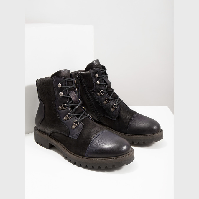Pánská kotníčková obuv bata, černá, 896-6664 - 14